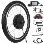 "Voilamart 26"" Rear Wheel Electric Bicycle Conversion Kit, 48V 1500W E-bike Motor Kit LCD Display, Built-In Programmable Controller PAS System, 750W Power Limited Road Bike"
