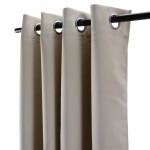 Blackout Curtains 52 x 63 Thermal Insulated Light Reducing Grommet Top Window Curtain Set for Bedroom, Living Room,2 Panels - Beige