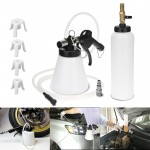 Voilamart 1L Brake Fluid Bleeder Kit Pneumatic Vacuum Brake and Clutch Oil Air Extractor Bleeding Fill with 4 Adapters Master Cylinder 90–120 PSI Air Pressure Fluid Bleed Tool