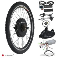 "Voilamart E-Bike Conversion Kit 26"" Rear Wheel 36V 500W Electric Bicycle Conversion Motor Kit with Intelligent Controller and PAS System for Road Bike"