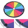 "Voilamart 15"" Tabletop Spinning Prize Wheel 12 Slots with Aluminum Base, Dry Erase, 2 Pointer, for Fortune Spin Game in Party Pub Trade Show Carnival"