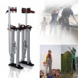 "Voilamart Drywall Stilts 24""-40"" Adjustable Aluminum Painting Stilts Lifts Tool for Painter Taping Cleaning Ceiling Finishing - Silver"